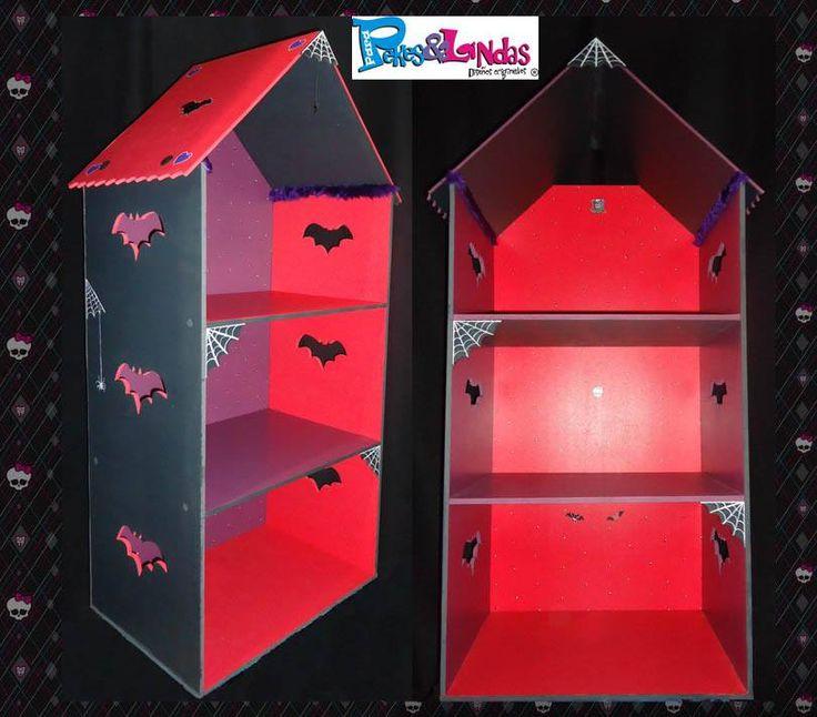 Casita modelo Peke de 3 pisos para Monster High..