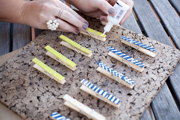 Cute easy clothes pins for organizing around the house and office :)