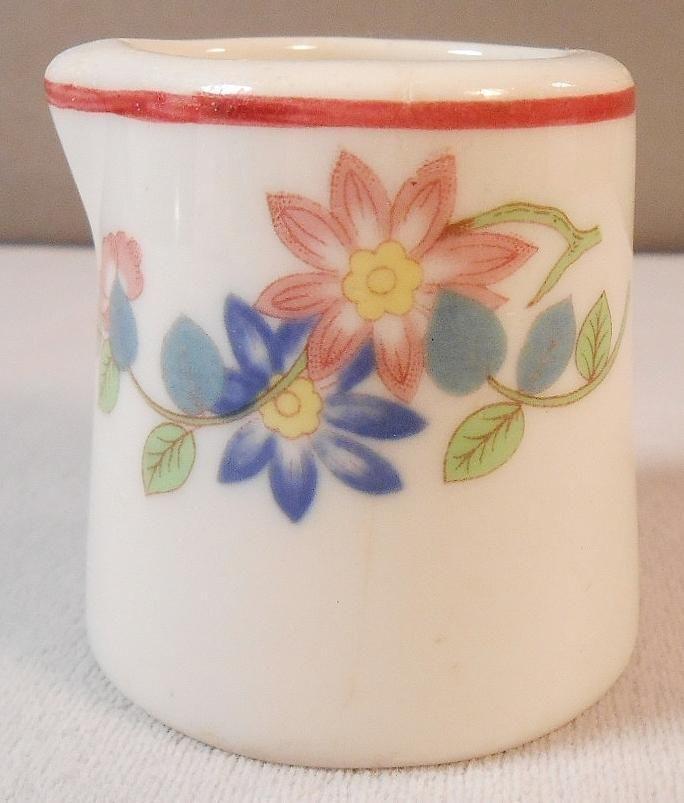Vintage Restaurant Ware Individual Creamer - Colorful Floral Design