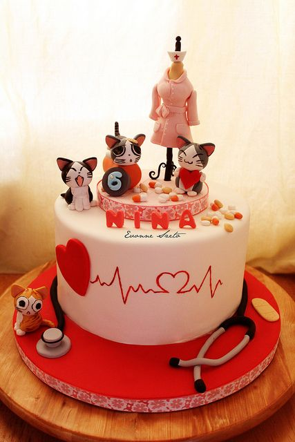 Nursing & Cats Cake