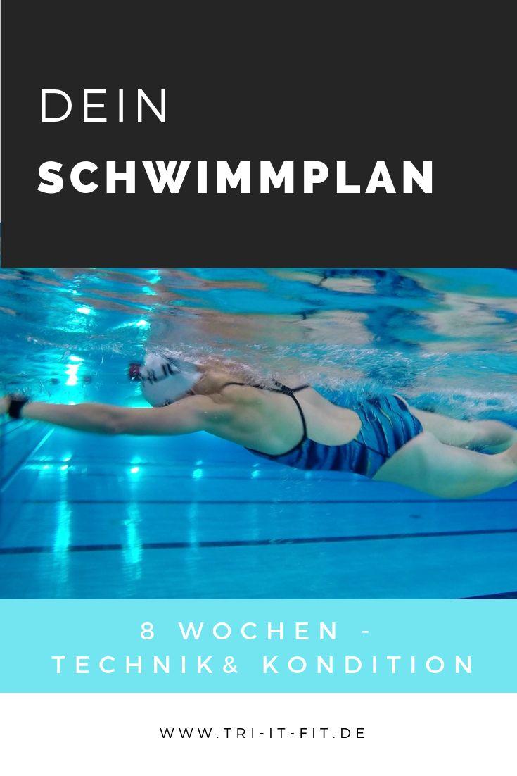 8 Wochen Schwimmplan – Verbesserte Technik & Kondition