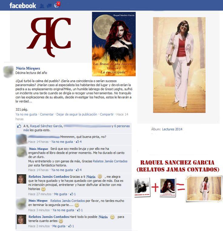 """Núria Márquez opina sobre """"La Encrucijada"""", novela de la serie """"Las Brasas de una Inocente""""  http://relatosjamascontados.blogspot.com.es/2014/03/nuria-marquez-opina-sobre-la-encrucijada.html"""