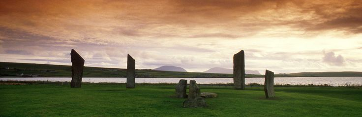 The Stones of Stenness, Orkney with the Hills of Hoy - Orkney Archaeology Tours, for your perfect Orkney holiday