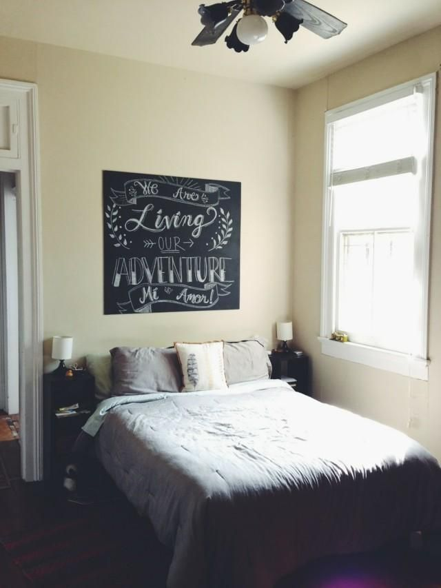 slate paint to decorate your wall easily and original - Slate Bedroom Decorating