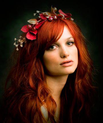 red hair w/ headband