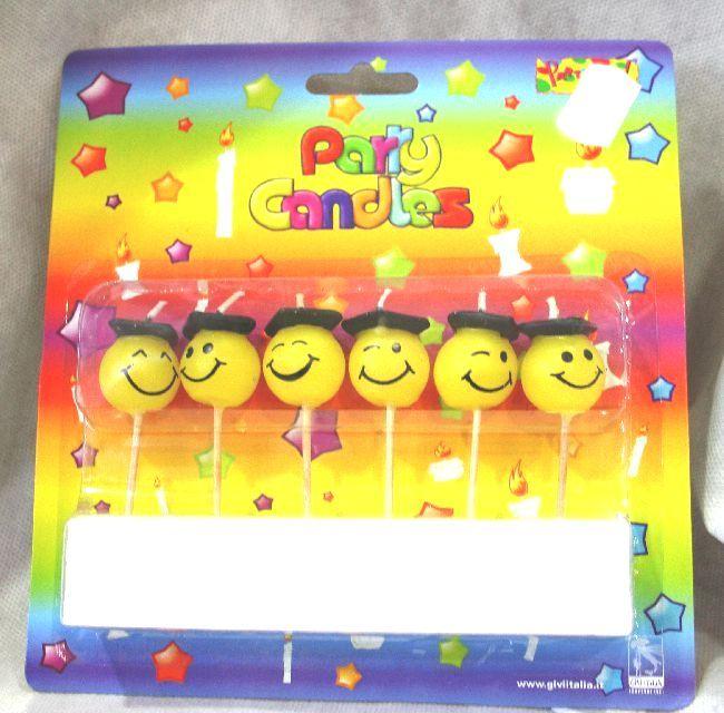 6 Candeline Smile laureato. Per festeggiare il neo laureato. Con stecco per torta. Disponibili da C&C Creations Store