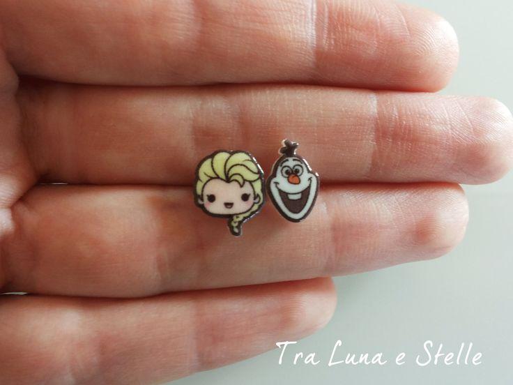 Les boucles d'oreilles lobe Elsa et Olaf de gelé glace Royaume, Disney-kawaii par TraLunaeStelle sur Etsy https://www.etsy.com/fr/listing/235415273/les-boucles-doreilles-lobe-elsa-et-olaf