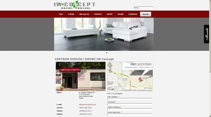 Company website for IW-Concept