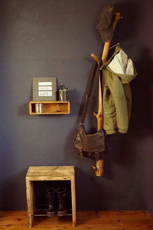 Garderobe Aus Waldtreibholz Altes Holz Fur Individualisten