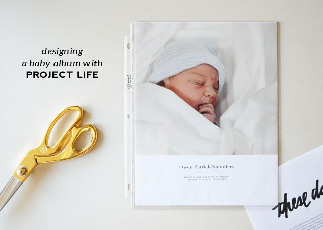 greenfingerprint | simple + modern design: project life | starting owen's baby album