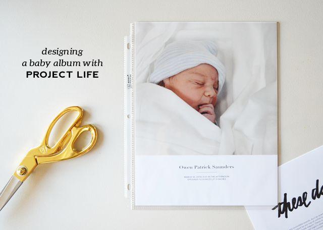 greenfingerprint   simple + modern design: project life   starting owen's baby album