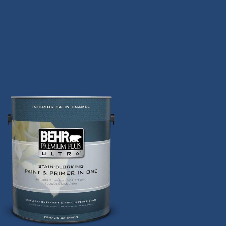 Behr Premium Plus Ultra 1 Gal S H 580 Navy Blue Satin
