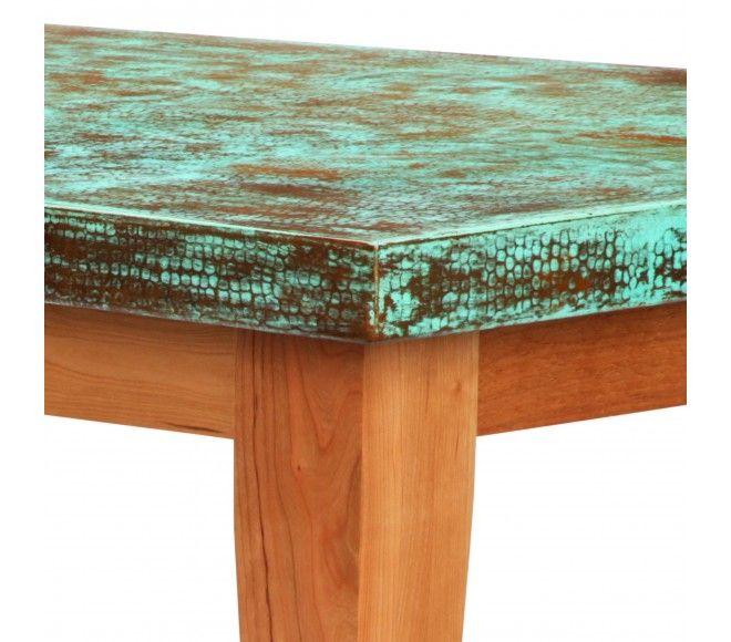 Rectangular Copper Table Tops Verde Patina Customizable