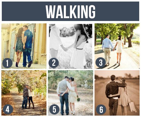 Walking - ideas for photographing couples