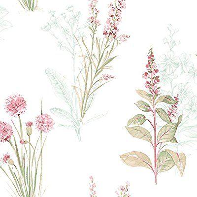 AB42442-Abby Rose 3 floral rosado y blanco del papel pintado Galerie: Amazon.es: Bricolaje y herramientas