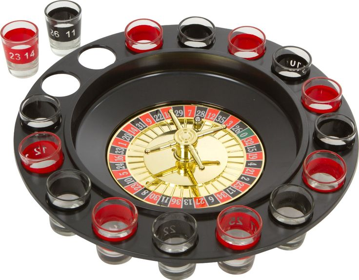 EZ Drinker Shot Spinning Roulette Game Set (16-Piece) – LaughGift.com – Gifts and Novelty Items