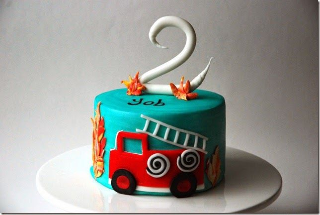 Firetruck cake for little boys. How cute. karenannecakes.blogspot.com