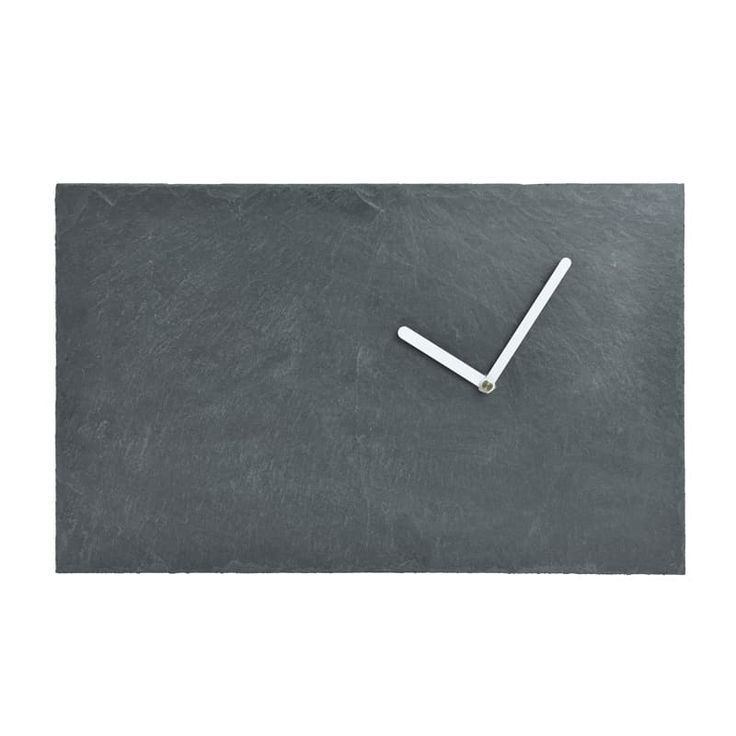 GIE El Slate Wall Clock - White Hands - Design Shop