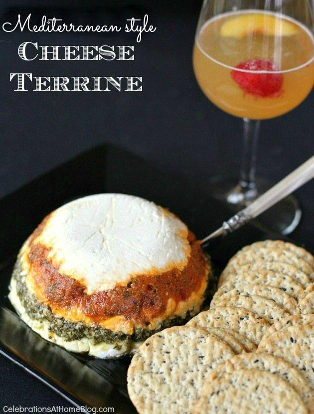 MEDITERRANEAN STYLE CHEESE TERRINE RECIPE #cheese #appetizer #terrine