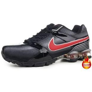 www.asneakers4u.com Mens Nike Shox R4 Black Red Grey