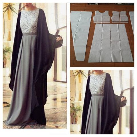 Dress pattern with outer gamis. Order by click our link/ line : modelliste #modelliste#dress#polagamis#poladress#polaouter#polaouterdress#polabajumuslim#jualpola#olaonlineshop#patterndrafting