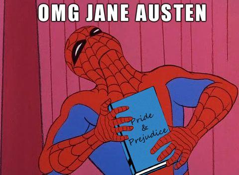 online handbags shopping Spider Man is a Jane Austen fan