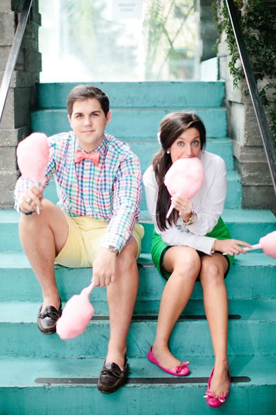 fun cotton candy engagement session! | Love, The Nelsons #wedding
