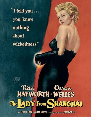 Rita Hayworth, The Lady from Shanghai, Film Noir,