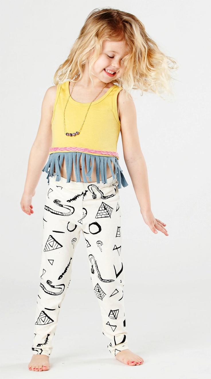Snake-print children's leggings. I would wear these!