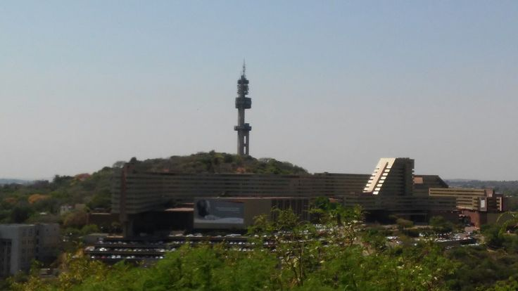 Telkom tower from freedom park with unisa