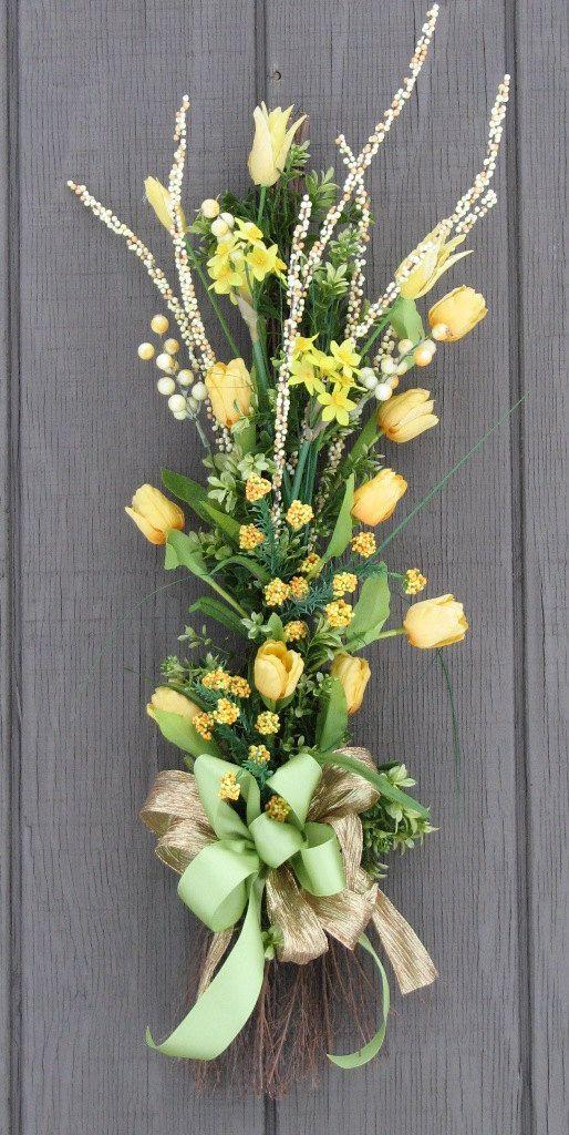 Spring wreath Tulip Bouquet Vertical Swag Door by SimpleJoysofLife, $52.00
