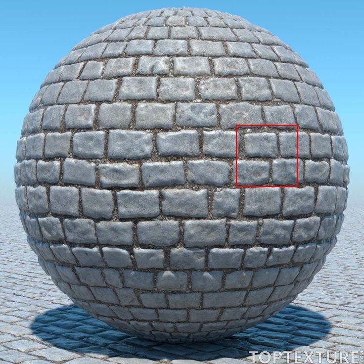 El repositorio Top Texture está regalando esta espectacular textura de adoquines (cobblestone) para que la pongas a prueba en tus escenas.