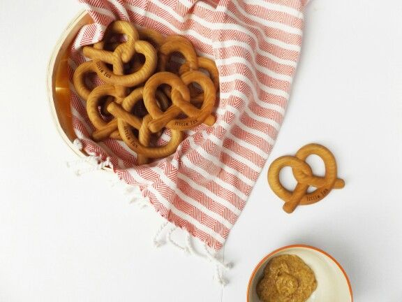 Wooden Pretzel Teether from Little Fox Teething - In Stock at http://www.littlefoxteething.com
