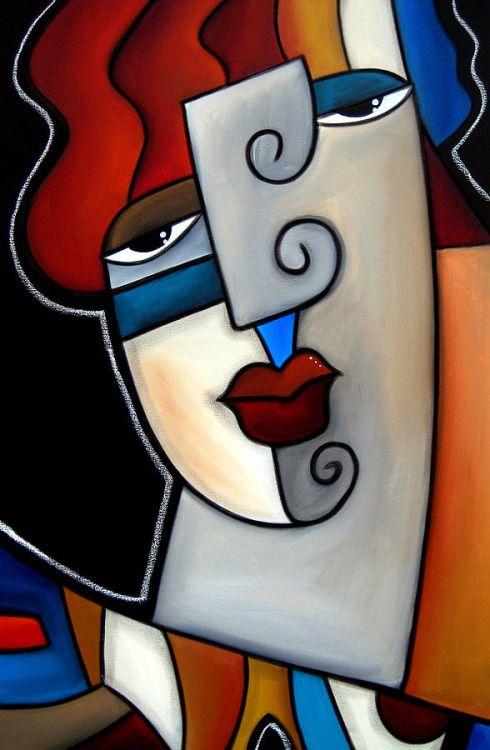 """Del pintor cubista Thomas C. Fedro: """"Algún otro""""."""