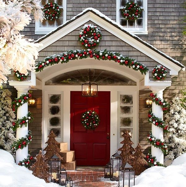 Outdoor Christmas Decor Beautiful Image From Mix And