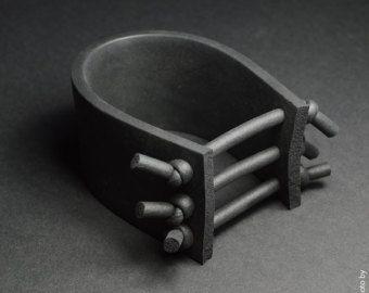 Zwarte rubberen armband Rubber sieraden ontwerpers armband, Street Style, krachtige armband, Unisex armband, armband Fashion