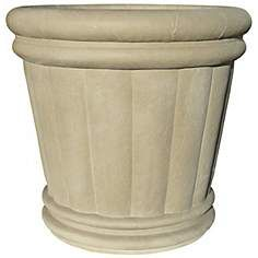 "22"" Slate Gray Roman Urn Planter"