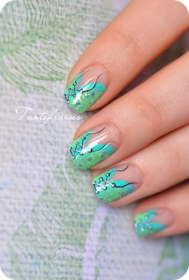 nail art One Stroke ongles courts