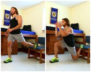Traveling? Conquer This 5-Move Hotel Room Workout in Just 15 Minutes: 3. Bulgarian Split Squats