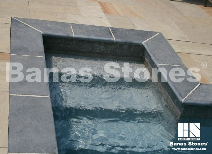Banas Kota Blue Pool Coping Available at our store at 3500 Mavis Rd, Mississauga, ON L5C 1T8