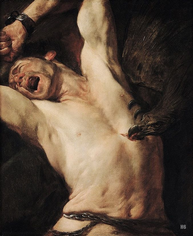 """Painting Per Day / """"The Torture of Prometheus"""" by Gioacchino Assereto (1600 – 1649) an Italian painter of the early Baroque period.:"""