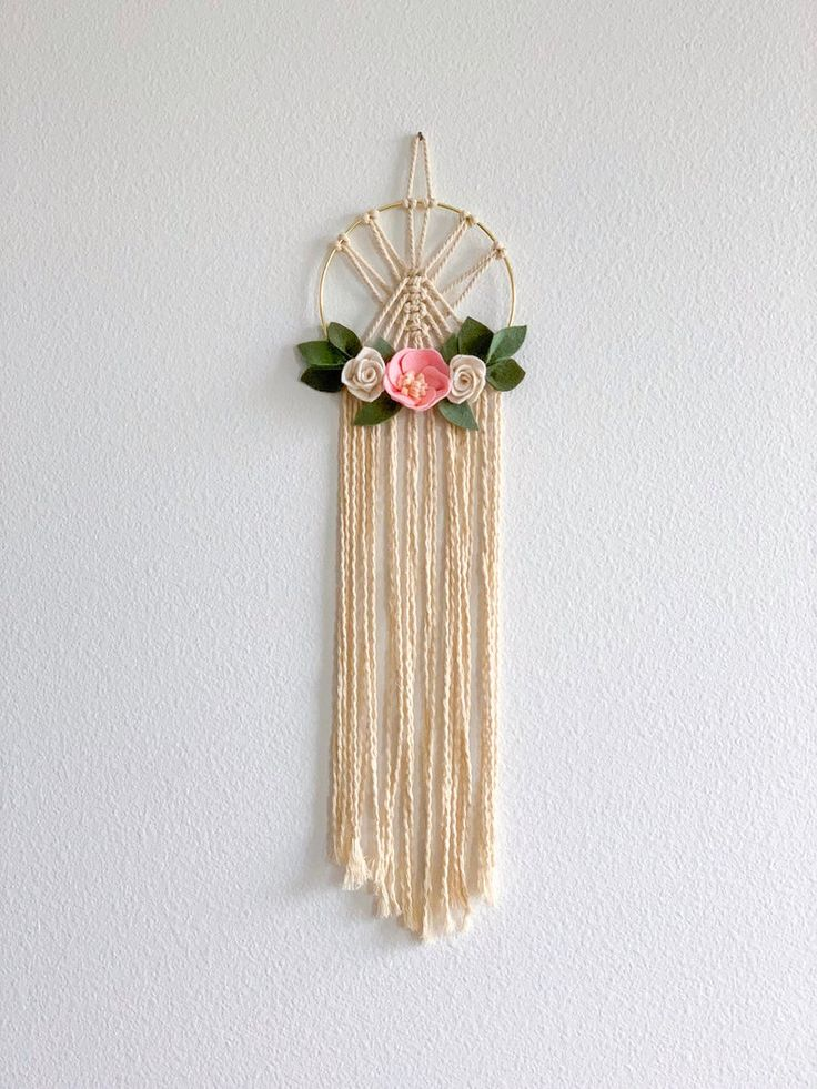 sweet boho macrame hoop wall hanging with handmade felt on sweet dreams for your home plants decoration precautions and options id=86297