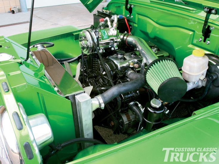 old Willys trucks | 1950 Willys Jeep Pickup Truck Engine Bay