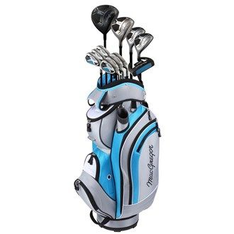 MacGregor Golf MacGregor Ladies DCT Package Set (Graphite Shaft) The Ladies DCT comes complete with a PVD plated Titanium driver Stainless steel 3-wood 24 and 27 degree stainless hybrid 6-SW irons high-MOI putter and Luxury cart bag .The oversized 460cc titanium dr http://www.MightGet.com/january-2017-11/macgregor-golf-macgregor-ladies-dct-package-set-graphite-shaft-.asp