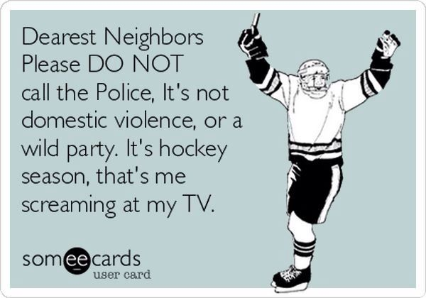 It's just hockey on the tv! Haha my life! #hockey #hockeyseason