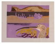 Clifford Ellis Curlew bird Lithograph printed in colours with hand...