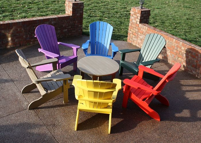 Colorful Plastic Adirondack Chairs For Outdoor ~ http://lanewstalk.com/the-rustic-adirondack-chair/