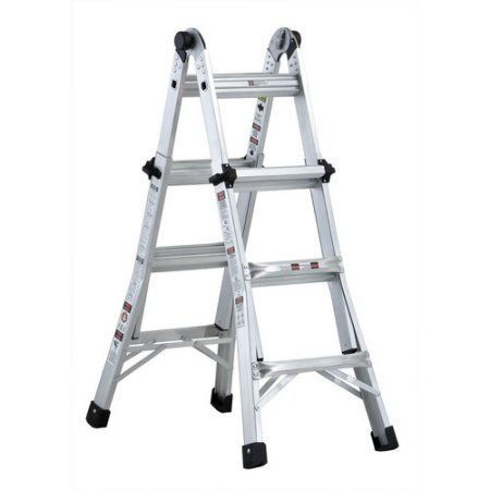 Louisville L-2098-13 13 ft. Type IA Duty Rating 300 lbs. Aluminum Multi-Purpose Ladder, Multicolor