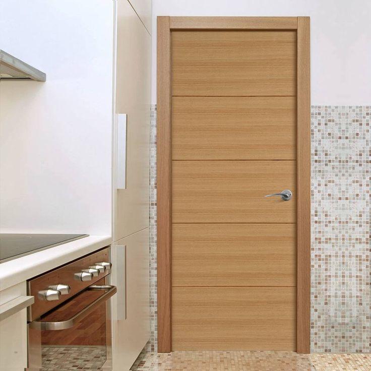Orta Flush Oak Veneer Door Is Pre Finished | P M Mendes Flush Doors