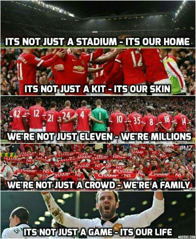 TO ALL THE MANCHESTER UNITED FANS Manchester united